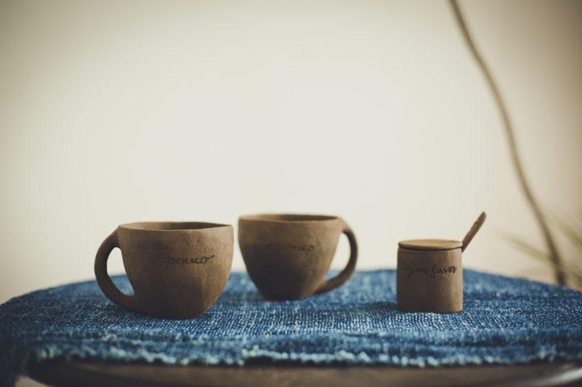 マグとスプーン色々 ポルトガル語シリーズ陶芸作